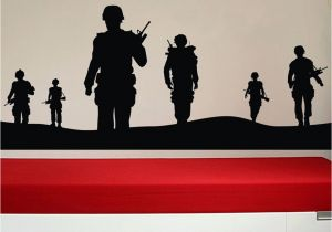 Army Wall Murals Creatively sol R Army Men Vinyl 3d Wall Sticker Boys Poster Wall