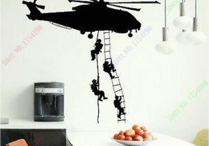 Army Wall Murals Free Shipping New Helicopter Army Sticker Adhesive Vinly Wall Art