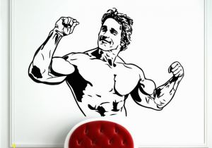 Arnold Schwarzenegger Wall Mural Arnold Schwarzenegger Decal Fitness Sports Bodybuilding Wall