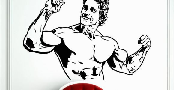 Arnold Schwarzenegger Wall Mural Arnold Schwarzenegger Decal Fitness Sports Bodybuilding Wall