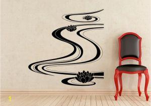 Arnold Schwarzenegger Wall Mural Lotus Flower River Wall Decal Yoga Vinyl Sticker Home Interior