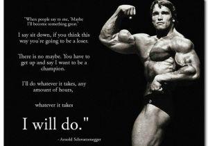 Arnold Schwarzenegger Wall Mural Nicoleshenting Arnold Schwarzenegger Motivational Quote Art Silk