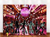 Art Fever Wall Murals 70s 80s 90s Disco Fever Dancers Party Decorations Graphy Backdrop 7x5ft Vinyl Let S Glow Crazy In the Dark Background Shining Neon Stages