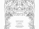 Art Nouveau Coloring Pages Frame Border Art Nouveau Style Place Stock Vector Royalty
