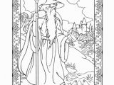 Art Nouveau Coloring Pages Wondrous Wizards Coloring Book Dover Publications