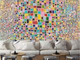 Art Nouveau Wall Murals 3d Colorful Squares 872 View Wallpaper Mural Wall Print Decal