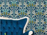 Art Nouveau Wall Murals Art Deco and Art Nouveau Wall Murals Retro Feather Damask Peel and