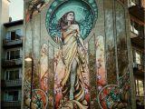 Art Nouveau Wall Murals Street Art Woman Murals & Street Art Pinterest
