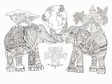 Asian Elephant Coloring Page World Elephant Day Elephants Adult Coloring Pages