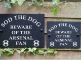 Aston Villa Wall Mural Beware the Football Fan Funny Slate Sign for Gate Door English Teams A C