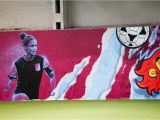Aston Villa Wall Mural Girls Football Festival