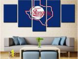 Atlanta Braves Wall Mural 5 Panel Texas Rangers Modern Décor Canvas Wall Art Hd Print