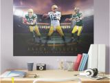 Atlanta Braves Wall Mural Fathead Aaron Rodgers Montage Mural Giant Ficially