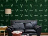 Atlanta Braves Wall Mural Milwaukee Bucks Hardwood Pattern Green Ficially