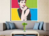 Audrey Hepburn Wall Mural andy Warhol Vintage Canvas Paintings Print Posters Colorful Audrey