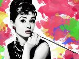 Audrey Hepburn Wall Mural Audrey Hepburn Illustration Poster Print Black and White Breakfast