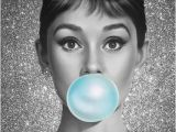 Audrey Hepburn Wall Mural Custom Canvas Wall Decals Mural Bubble Audrey Hepburn Poster Audrey