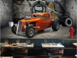 Automotive Wall Murals Custom 3d Wall Murals Wallpaper Creative Stereoscopic Space Car