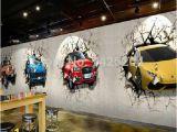 Automotive Wall Murals Great Wall Custom 3d Car Broken Wall Mural Wallpaper Fice