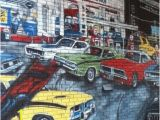 Automotive Wall Murals This Wall Mural is A Tribute to the Age Of Muscle Cars and Features