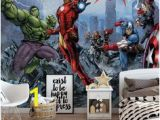 Avengers Full Size Wall Mural 19 Best Boys Room Wall Murals for Wall Images In 2019