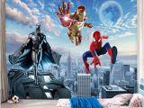 Avengers Full Size Wall Mural Custom Mural 3d Wallpaper Children S Room Living Room Tv sofa Background Wall Murals Wallpaper Avengers Hero Murals 3d to Wallpaper