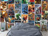 Avengers Full Size Wall Mural Großhandel Klassische Marvel Ics Wallpaper Spiderman Iron Man Batman Mural Individuelle 3d Bilder Für Kinder Jungen Schlafzimmer Kindergarten