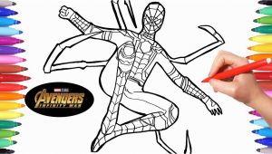Avengers Infinity War Spiderman Coloring Pages Avengers Infinity War Iron Spider
