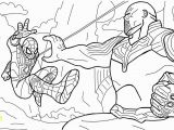 Avengers Infinity War Spiderman Coloring Pages Spiderman Vs Thanos Coloring Page Free Printable