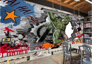 Avengers Wall Mural Uk Avengers Wallpaper Custom 3d Hulk Wallpaper Graffiti Wall Mural Children Bedroom Living Room Fice Tv Backdrop Super Hero Room Decor Canada