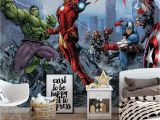 Avengers Wall Mural Wallpaper Pin On Murs