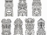 Aztec Pattern Coloring Pages Free Coloring Page Coloring Adult totems Inspiration Inca Mayan
