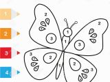 B is for butterfly Coloring Page Coloring Page with butterfly Color by Numbers Educational Children