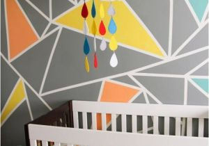 Baby Boy Nursery Murals Archer S Colorful Nursery with Geometric Elements