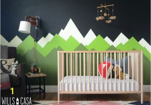 Baby Boy Nursery Murals Mountain Mural the Makings Of A Ron Swanson Nursery