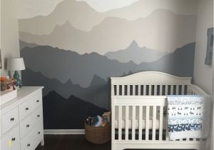 Baby Boy Nursery Murals Woodland Nursery Gender Neutral Woodland Nursery Diy Gray and
