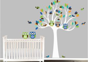 Baby Boy Nursery Wall Murals Baby Boy Nursery Wall Decal Owl Wall Decal Tree by Beautifulwalls