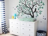 Baby Boy Wall Murals Tree Wall Decals Baby Nursery Tree Wall Sticker with Owl and