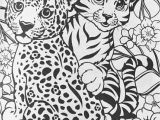 Baby Cheetah Coloring Pages Lisa Frank Cheetahs Coloring Page