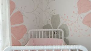 Baby Girl Nursery Murals Baby Girl S Nursery with Flower Mural Inspriation From A Kleenex
