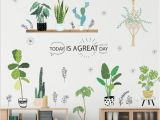 Baby Girl Room Wall Murals Garden Plant Bonsai Flower butterfly Wall Stickers Home Decor Living