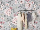 Baby Girl Room Wall Murals Vintage Floral Wallpaper Rose Wall Mural Nursery Wallpaper Baby