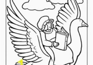 Baby Goose Coloring Pages Mother Goose Coloring Page Pre K Arts & Crafts