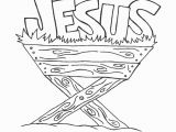 Baby Jesus In the Manger Coloring Page Baby Jesus In Manger Drawing at Getdrawings