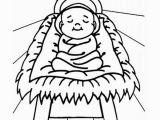 Baby Jesus In the Manger Coloring Page Baby Jesus Sleep In A Manger Coloring Page Kids Play Color