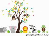 Baby Jungle Safari Wall Mural Buy Zoo Animal Wall Mural Safari Animal Stickers Jungle