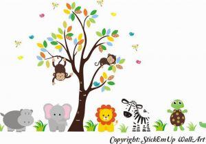 Baby Jungle Safari Wall Mural Buy Zoo Animal Wall Mural Safari Animal Stickers Jungle