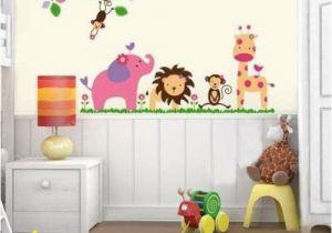 Baby Jungle Safari Wall Mural Details About Safari Animals Nursery Elephant Decal Wall Art
