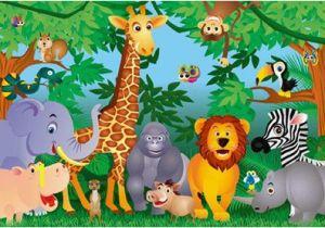 Baby Jungle Safari Wall Mural Kids Jungle Mural