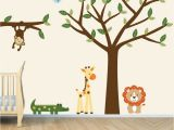 Baby Jungle Safari Wall Mural Pin On Nursery